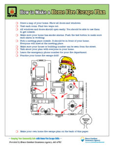 Home Fire Escape Plan Image
